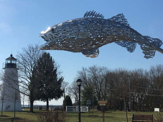 'Big Fish School of Fish', with lighthouse (Havre de Grace, MD)